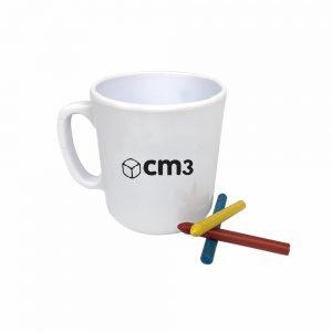 Brindes Personalizados - Caneca para Colorir 400ML - Branca