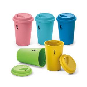 Brindes Personalizados - Copo Ecológico com Tampa 450 ml Personalizado