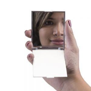 Brindes Personalizados - Espelho De Bolsa Retangular
