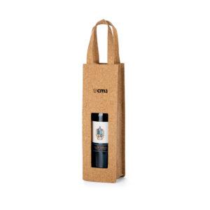 Brindes Personalizados - Sacola de Cortiça para 1 Garrafa