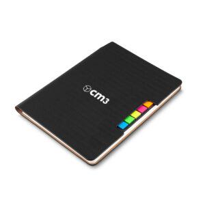 Brindes Personalizados - Caderno de Anotações com Post It L15,0/H21,0