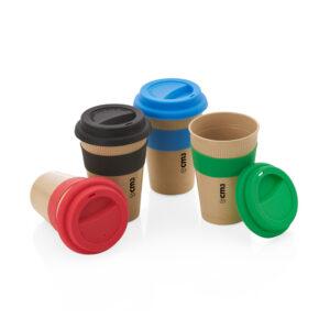 Brindes Personalizados - Copo Ecológico c/ Luva de Silicone 450 ML Personalizado
