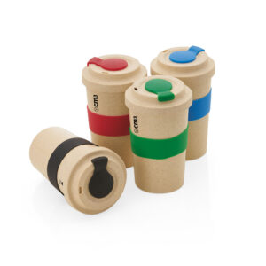 Brindes Personalizados - Copo Ecológico c/ Luva de Silicone 450ml