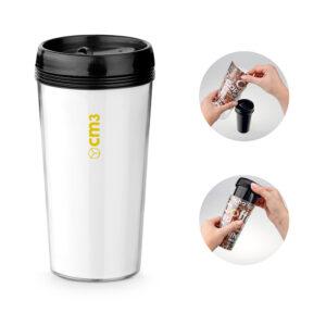 Brindes Personalizados - Copo Plástico Corpo Duplo 520ml