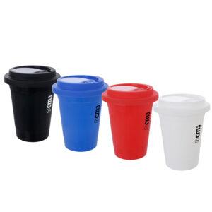 Brindes Personalizados - Copo para Café com Tampa 400ml